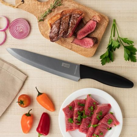 Faca Titanium Prateada Chef 8''
