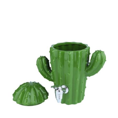 Dispenser cactus verde cerâmica 1800ml