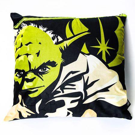 Almofada Fibra Veludo Mestre Yoda Star Wars