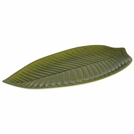Travessa planta longa verde 45cm Brinox
