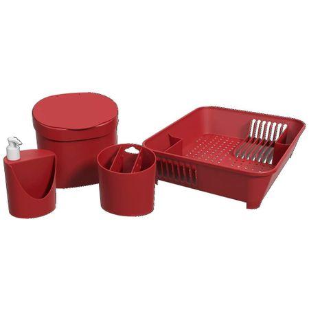 Kit Organizando Sua Pia Vermelho Coza