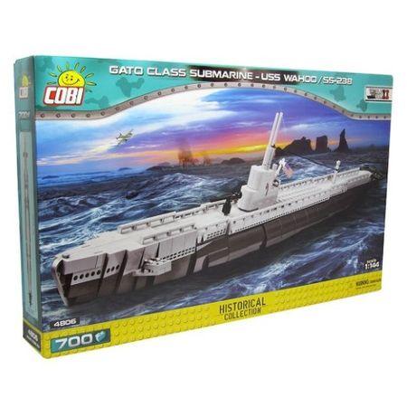 Blocos para Montar Submarino Americano USS Wahoo Gato Class com 700 Pçs Cobi