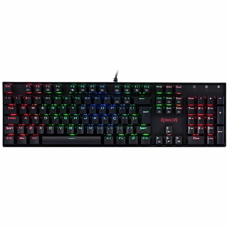 Teclado Mecânico Redragon Mitra K551 Preto RGB Switch Outemu Brown