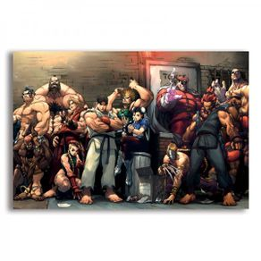 mural-metalico-personagens-street-fighter