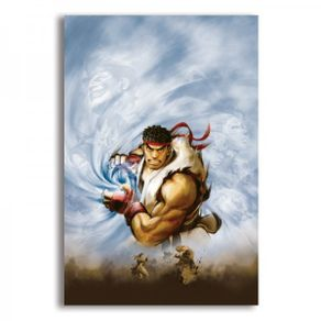 mural-metalico-ryu-hadouken-street-fighter
