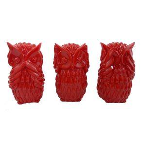 trio-coruja-vermelha
