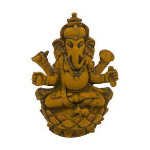escultura-ganesha-flor-lotus-amarela