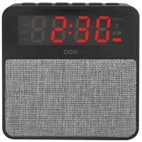 Caixa-de-Som-Bluetooth-e-Despertador-10W-OEX-Cinza