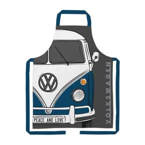 Avental-Algodao-VW-Kombi-Peace-and-Love-Cinza-URBA0151