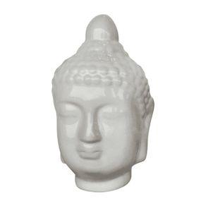 Escultura-Buda-Hindu-Branco