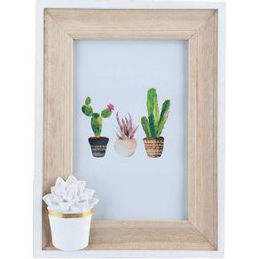 Porta-Retrato-Madeira-Cactus-Flower-10x15-1