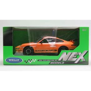 Porsche-911--997--GT3-RS-Laranja-em-Escala-1-24-Welly-1
