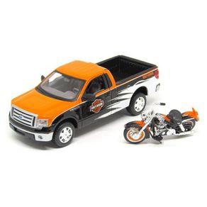Ford-F-150---Moto-Harley-FLH-Duo-Glide-em-Escala-1-24-Maisto-1