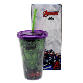 Copo-com-Canudo-Incrivel-Hulk-Marvel-500ml-com-Tampa-1