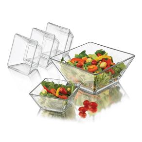Jogo-de-Saladeiras-Libbey-Tempo-22cm14cm-Vidro-Transparente-5-Pecas-1