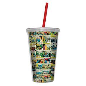 Copo-Plastico-com-Tampa-e-Canudo-DC-Comics-450ml-HQ-Colorido-1