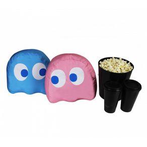 Almofadas-Porta-Pipoca-Fantasma-Pac-Man-2-em-1-Azul-e-Rosa-1