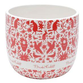 Cachepot-CerAmica-Frida-Kahlo-Birds-14x12cm-Branco-com-Estampa-1