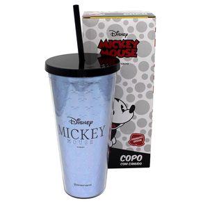 Copo-com-Canudo-e-Textura-Mickey-Disney-650ml-Azul-Logo-1