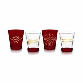 Conjunto-De-4-Copos-Shot-Em-Vidro-50-ml-Mulher-Maravilha-Logo-Gold-1
