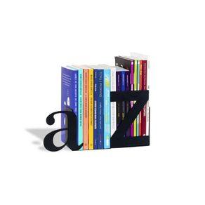 Aparador-de-livros-A-a-Z-Preto-Aco-Geguton-GEGU0053