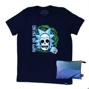 Camiseta-Rick-e-Morty-Preta